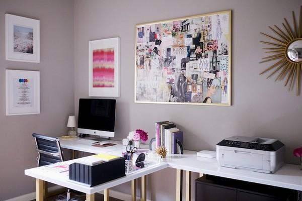 Как использовать серо коричневый цвет в интерьере домашнего офиса