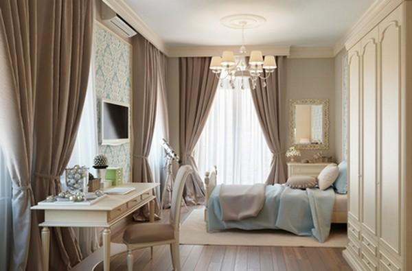 Как использовать серо коричневый цвет в интерьере, плюшевые шторы