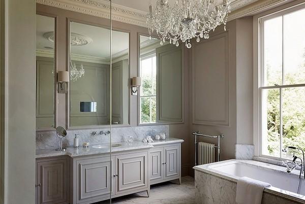 Как использовать серо коричневый цвет в интерьере ванной комнаты