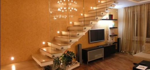 Подсветка стуепеней  лестницы