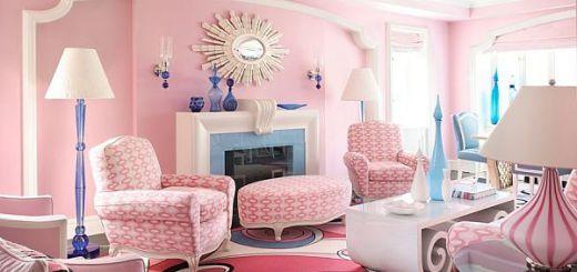 Комбинации и контрасты в интерьере розовой гостиной_opt