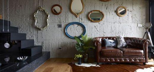 Смешение стилей  интерьера в зоне отдыха маленькой квартиры