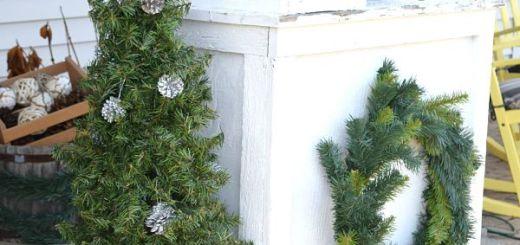 Топиарий Новогодняя елка своими руками_