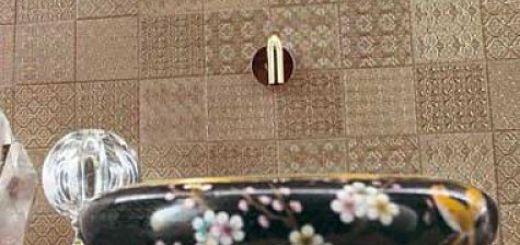 плитка под ткань в интерьере кухни