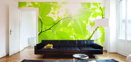 Зеленый цвет в дизайне гостиной