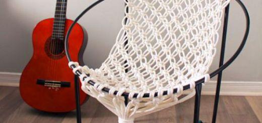 Как Сделать  Кресло Гамак Своими Руками в Технике Макраме