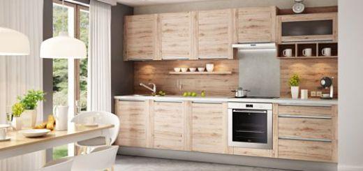 Современный дизайн кухни  Кухня на одну стену позволяет сэкономить место