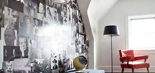 Как можно украсить стену фотографиями