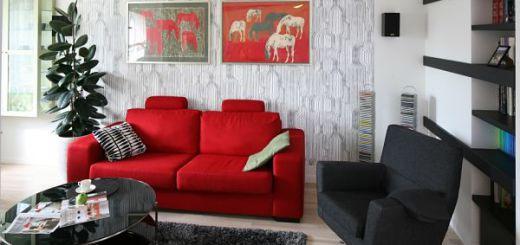 как оригинально украсить стены дома используя цвет