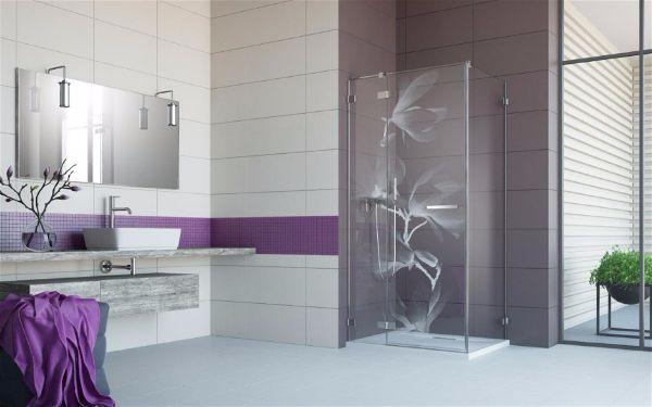 Стильный декор ванной комнаты. Гравировка на стекле