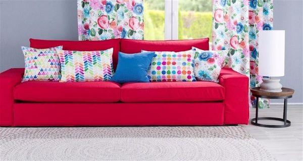 Дизайн в восточном стиле - идеи оформления интерьера красный диван