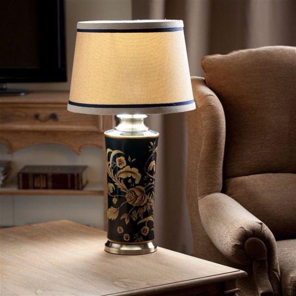Дизайн в восточном стиле - идеи оформления интерьера настольная лампа