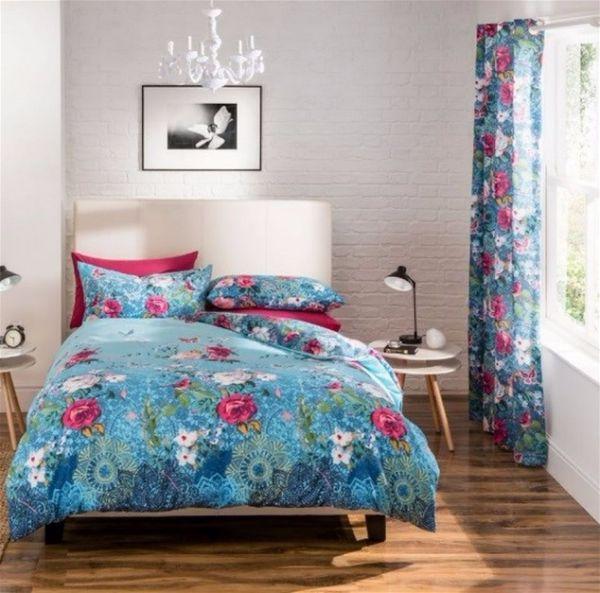 Дизайн в восточном стиле - идеи оформления интерьера постельное белье и шторы