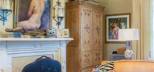 Оригинальный дизайн интерьера с классическим источником вдохновения классика и волшебные элементы-