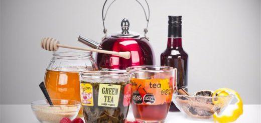 Осенние идеи для дома  как подавать чай малиновый-opt