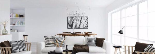 Дизайн интерьера в белом цвете-