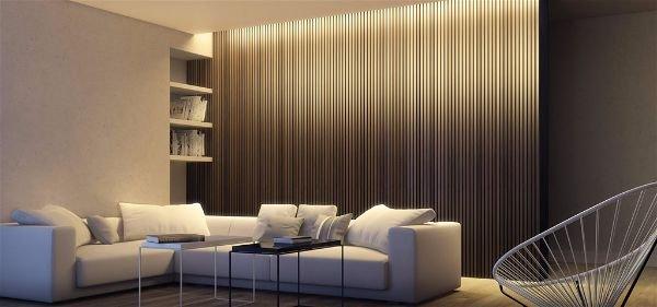 Дизайн интерьера в белом цвете с правильно подобранным освещением