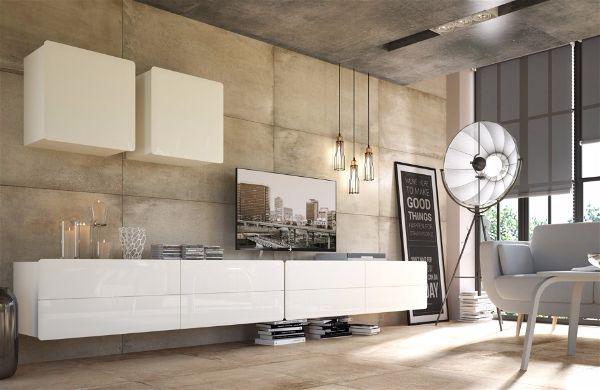 Дизайн стены с телевизором