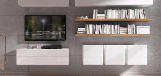 Дизайн стены с телевизором.  Поднимите выше