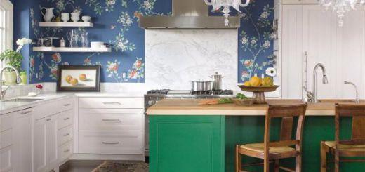 Лучшие идеи- как обновить кухню своими руками изумрудно зеленый остров-opt