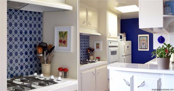 Лучшие идеи- как обновить кухню своими руками кухонный фартук из ткани