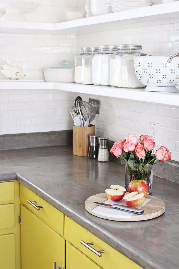Лучшие идеи- как обновить кухню своими руками столешница из бетона