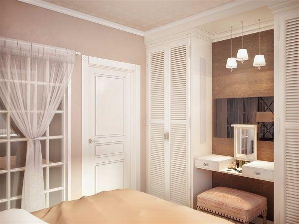 Межкомнатные двери белого цвета и белые окна