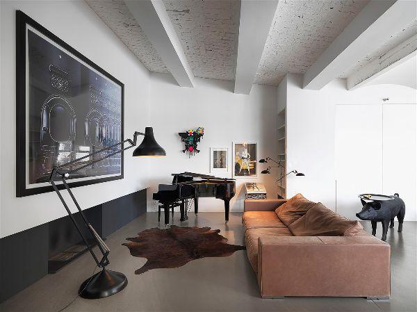 Зонирование гостиной комнаты при помощи  освещения