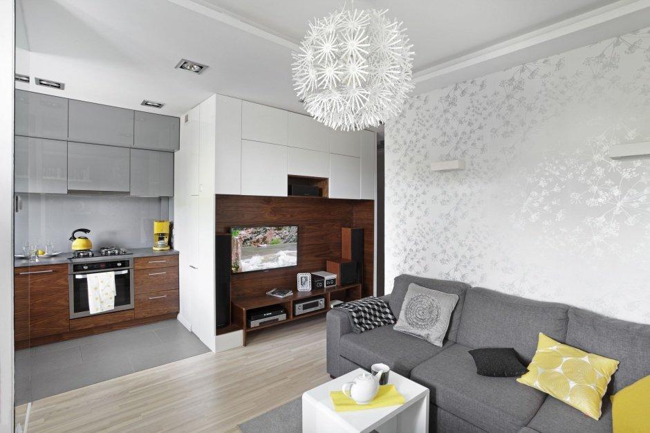 Решение небольшой квартиры Гостиная