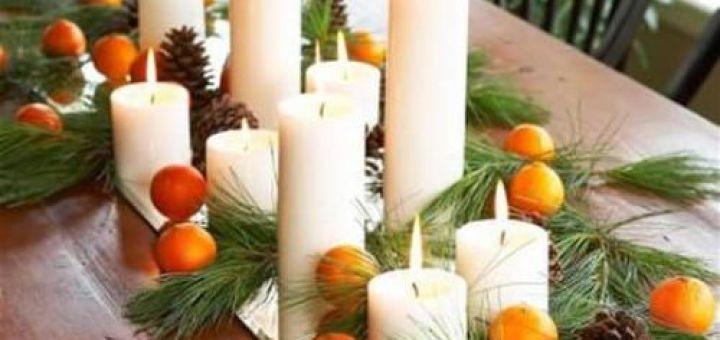 Интересные Новогодние идеи мандарины на столе