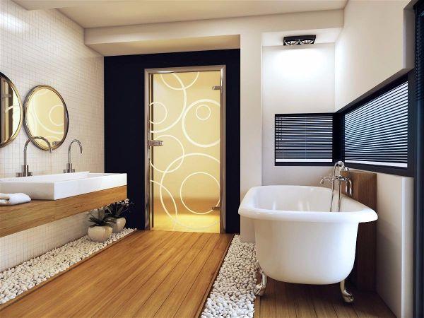 Какие двери в ванную стоит выбрать стеклянные