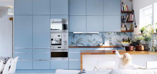 Какой цвет выбрать для кухни Вся кухня в голубом цвете