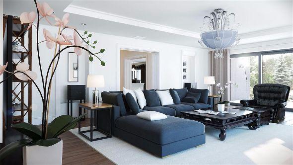 Мебель в гостиную в американском стиле-