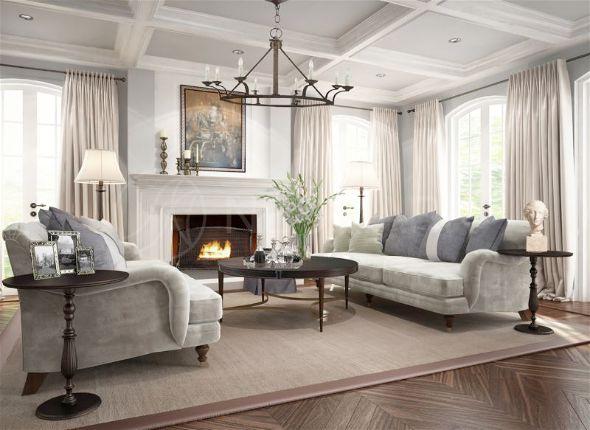 Оформление гостиной в классическом американском стиле