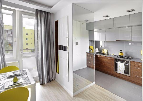 Решение небольшой квартиры. Оптическое увеличение-