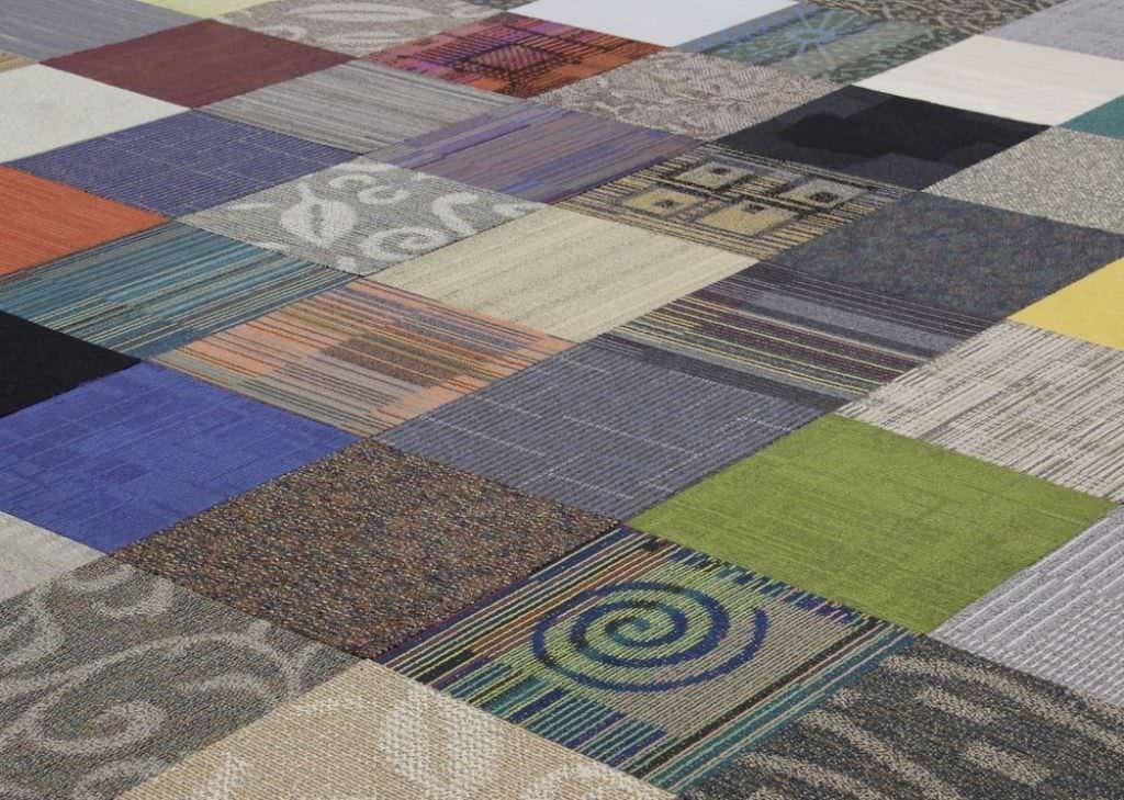 декоративные возможности ковровой плитки