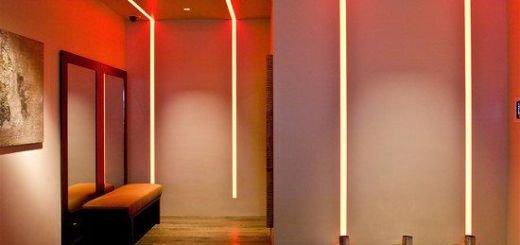 Современное освещение. Светодиодная лента в интерьере прихожей