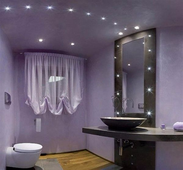 Современное освещение. Светодиодная лента в интерьере ванной комнаты