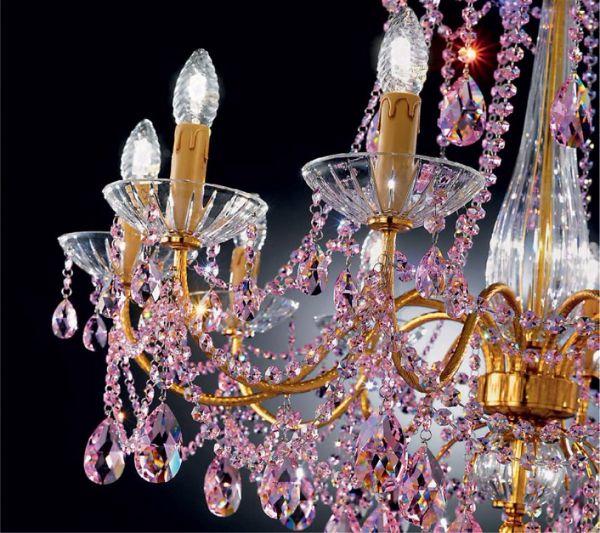 Современные светильники из муранского стекла и кристалов