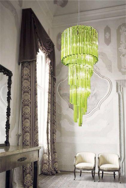 Современные светильники из зеленого стекла