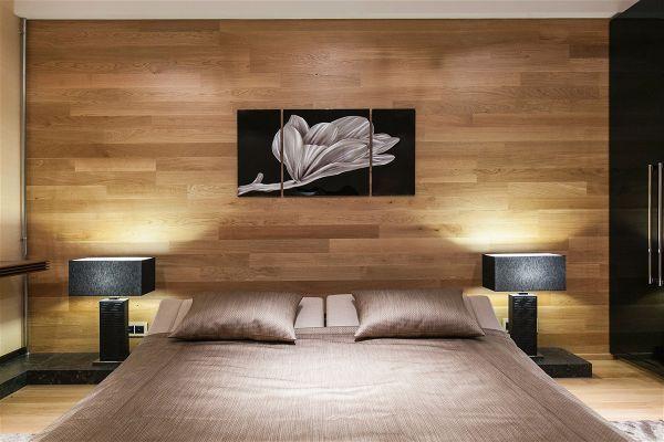 ламинированные панели- в спальне