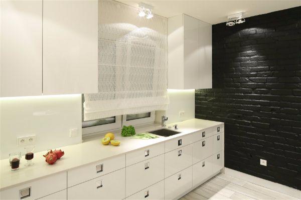 Освещение рабочей зоны на кухне размещенное под шкафами