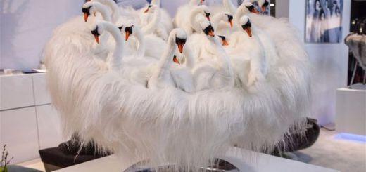 Тренды в интерьере представленные на выставке Maison & Objet Кресло лебеди