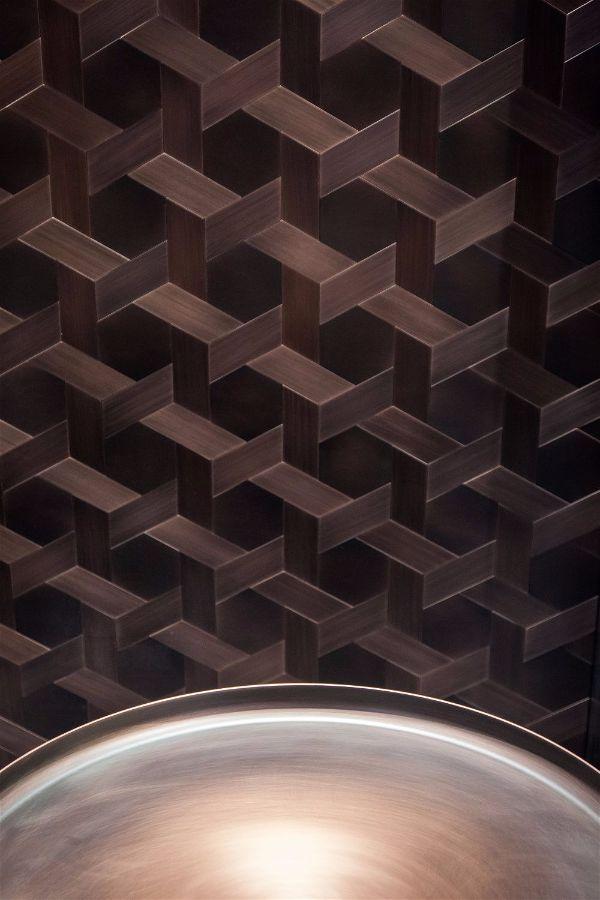 Тренды в интерьере представленные на выставке Maison & Objet  эффект сетки на стене