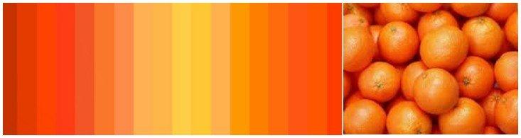 Возбуждающие цвета оранжевый