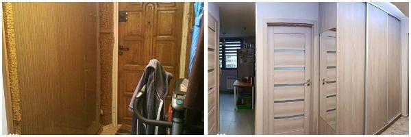 ыстрый ремонт и изменение интерьера в квартире 42 кв метра ПРИХОЖАЯ
