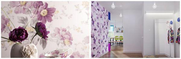 Фиолетовый Цвет в Интерьере обои