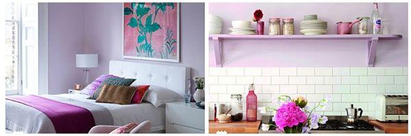 Фиолетовый Цвет в Интерьере яркие аксессуары