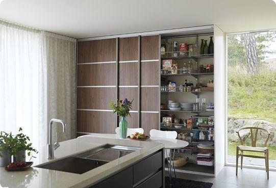 Идеи хранения на кухне в глубоких шкафах
