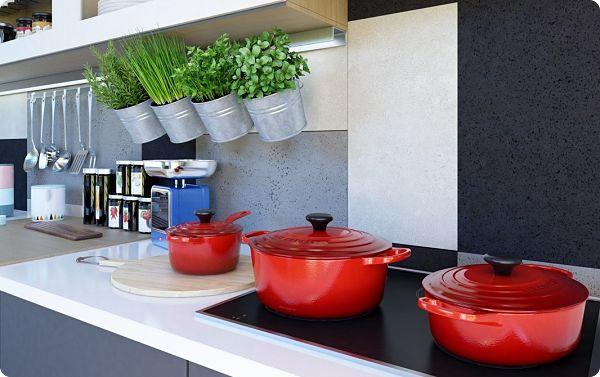 Идеи организации хранения на кухне используя стены